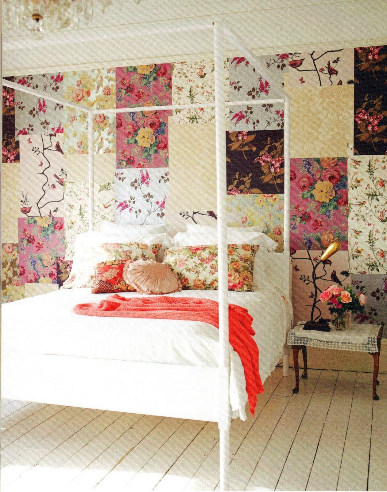 Interesting ideas on how to use wallpaper remnants