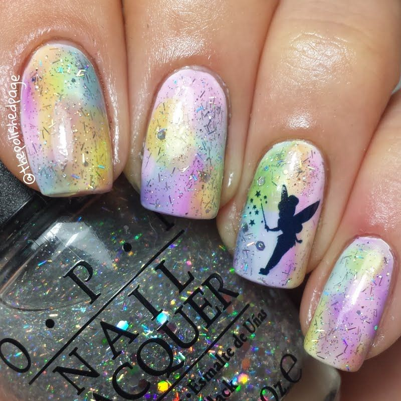 Tinkerbell Nails: Disney Nails In 2019