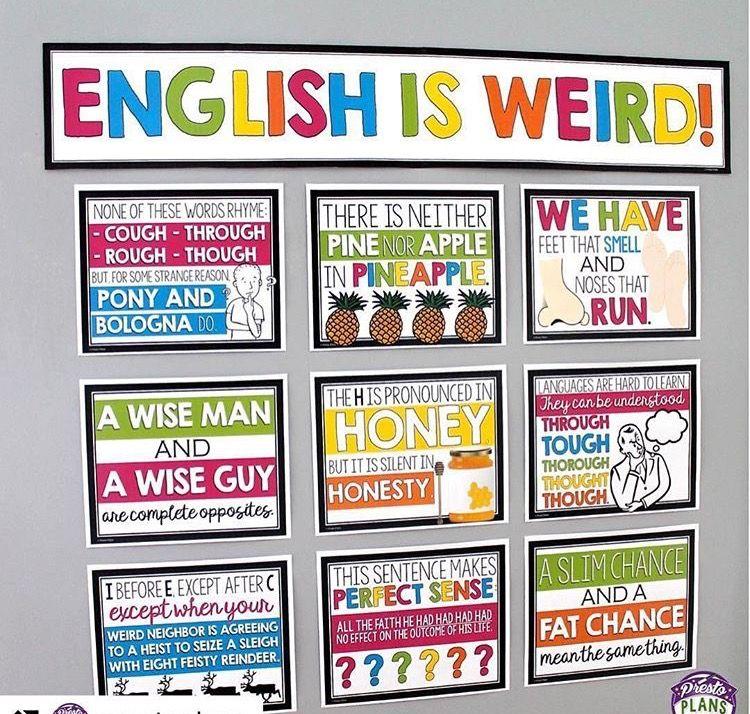 Pin by Lauri Novak on School Stuff | English classroom