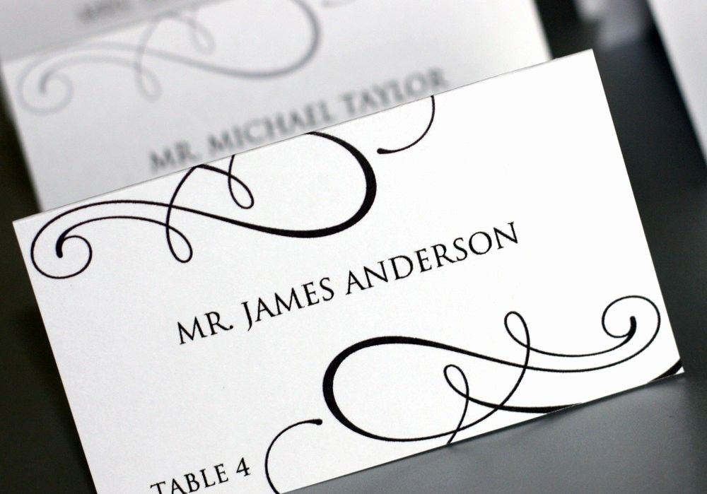 Wedding Place Cards Template Free New 7 Best Of Printable Place Card Tem Printable Place Cards Templates Free Printable Card Templates Free Place Card Template