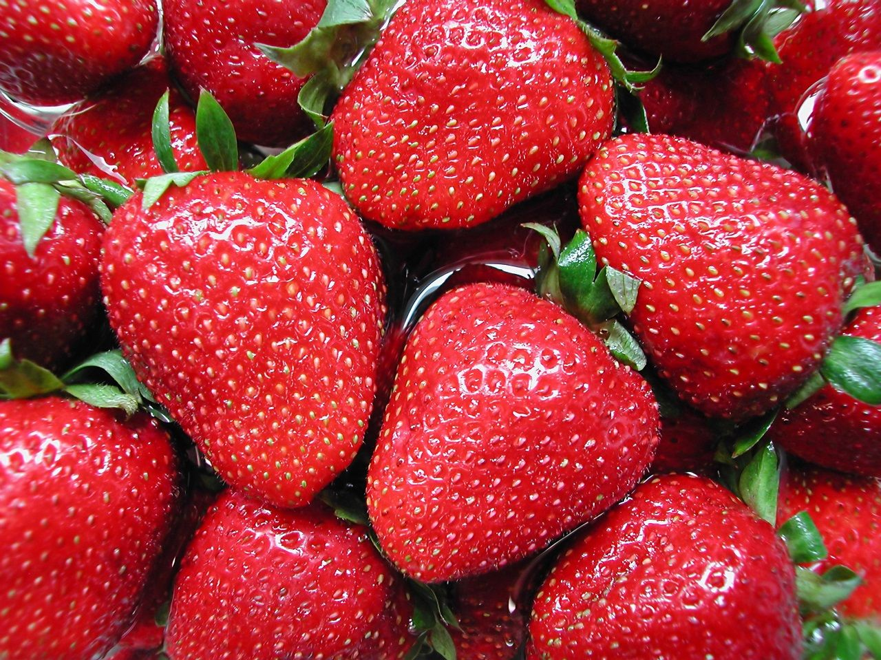 Fresh strawberries are in season now. Look for plump, well