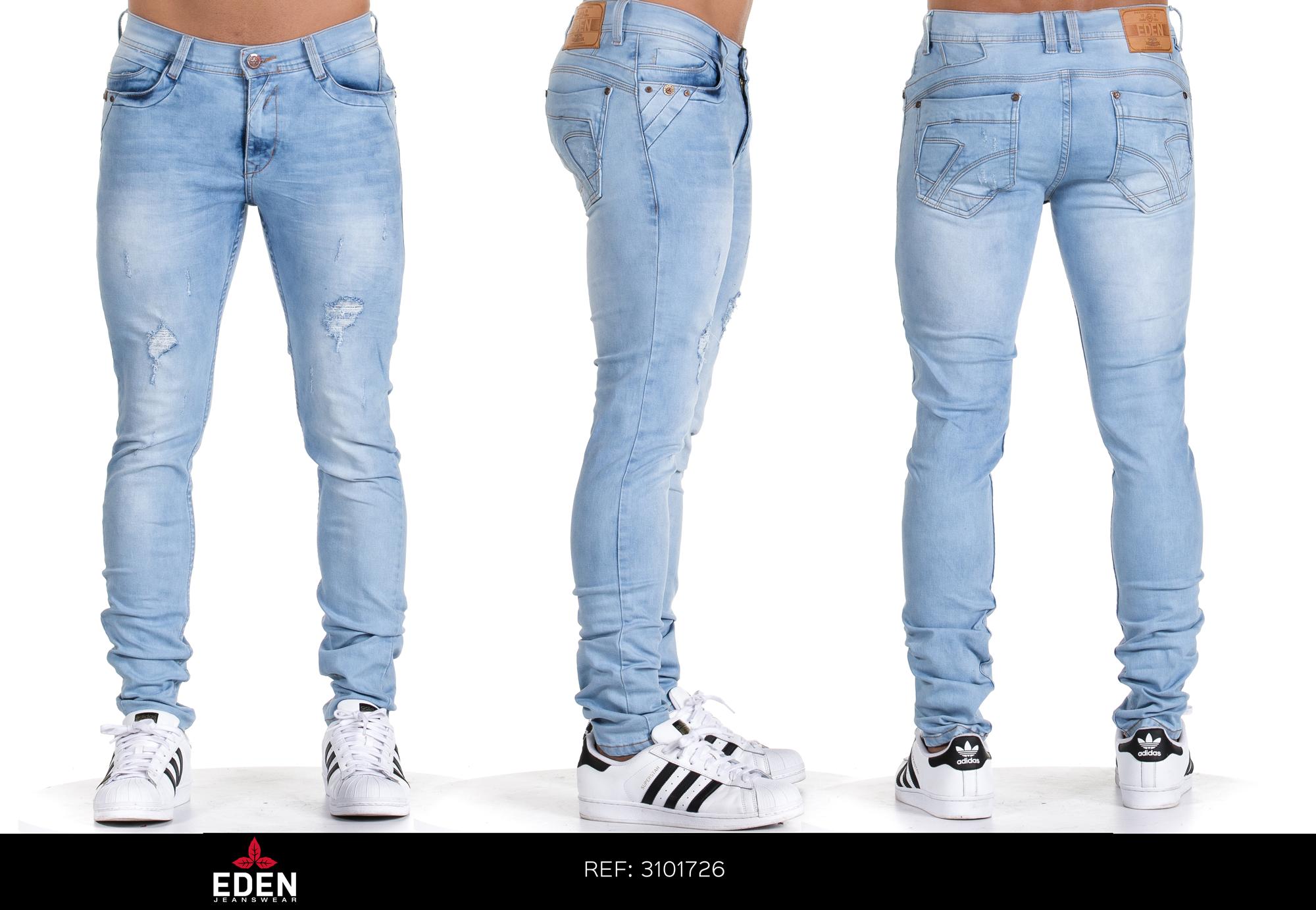 Jean Skinny Saman Confort Ref 3101726 Eden Jeans Vaqueros Pitillo Pantalones De Hombre Jeans Hombre