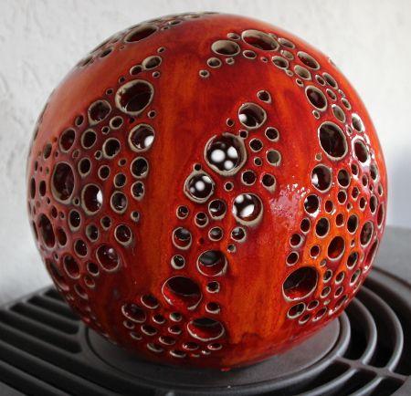 Leuchtkugel Img 0678 Lichtkugeln Keramik Malerei Keramik