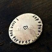 Gift for Him Love Token Personalized Pocket Coin Custom Hand Stamped Bra Love You Forever Gift for Him Love Token Personalized Pocket Coin Custom Hand Stamped Brass Toke...
