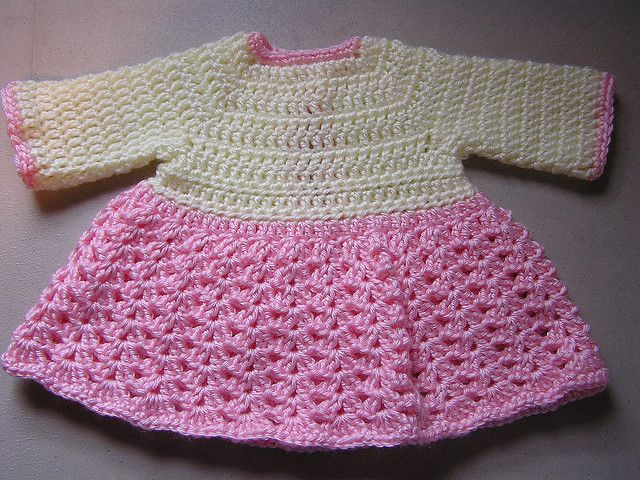 3e8013885012 Free Pattern  Very Quick And Easy Crochet Baby Dress