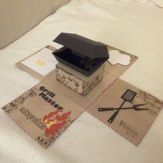 explosionsbox card mitbringsel geldgeschenk grill box geburtstag jubil ums stempel. Black Bedroom Furniture Sets. Home Design Ideas