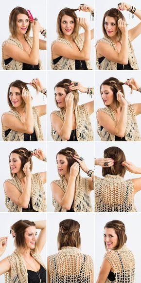 Peinados Que Te Tomaran 10 Minutos Si Tienes El Cabello Corto Hair