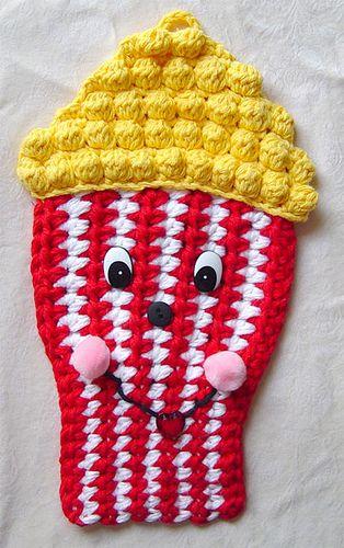 crochet popcorn potholder | Pinterest | Topflappen, Strick und Bäder