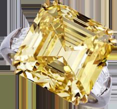 Fancy Vivid Yellow Diamond Ring.