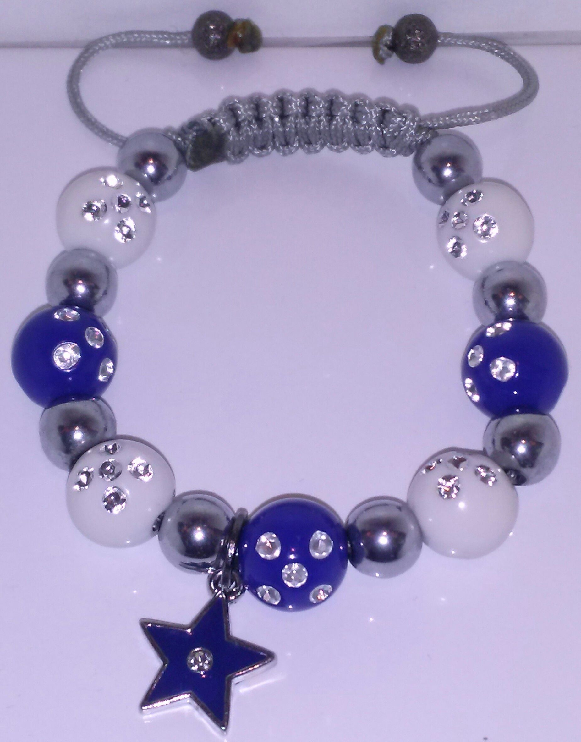 Dallas Cowboys Inspired bracelet  Virtually fits to any wrist size Web: bijoubynija.com Facebook: Bijou By Nija