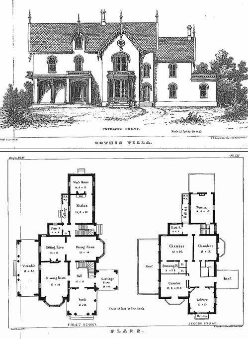Gothic Villa Design Forty Fifth By Sloan House Furniture Design House Blueprints Vintage House Plans
