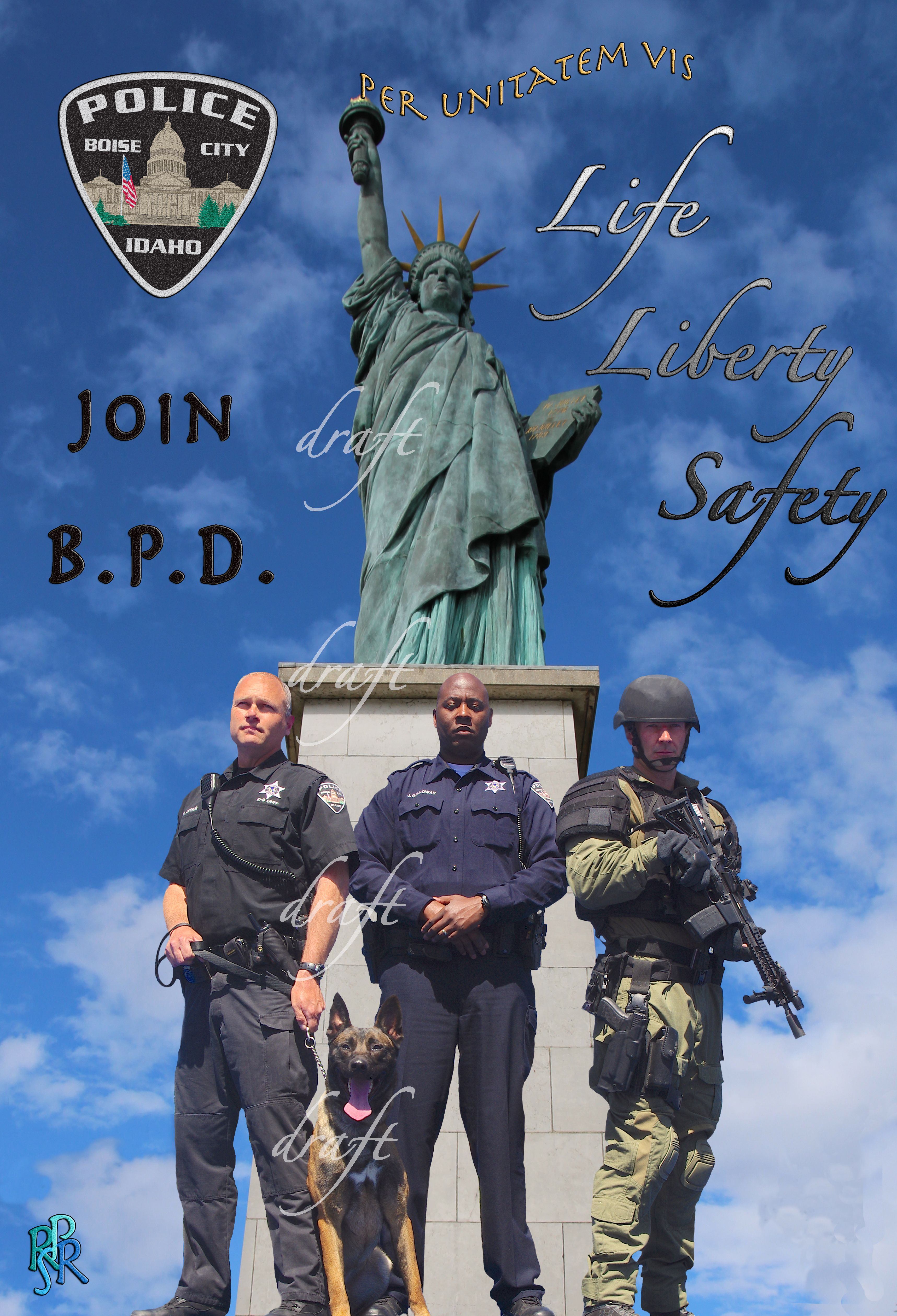 Per Unitatem Vis Stands For Through Unity Strength These Images May Not Be Reproduced Or Used Without Prior Consent Boise City Police Police Department