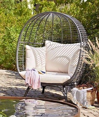 2 Person Snuggle Egg Chair Rattan Garden Furniture