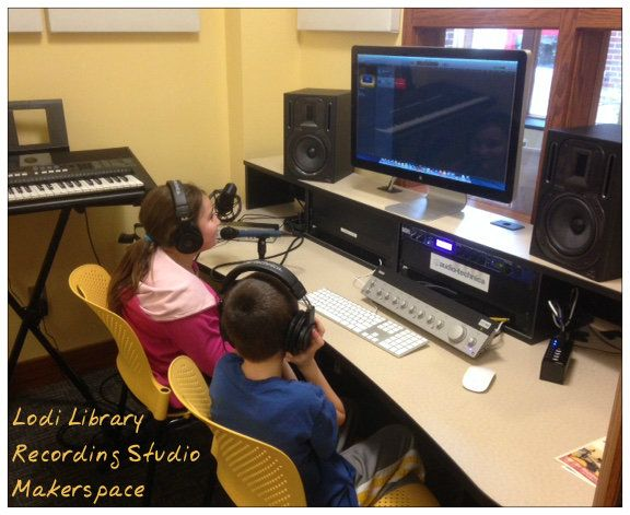 Check out Medina's newest Makerspace: the Recording Studio at our newly reopened Lodi Library.