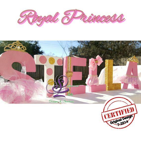 Royal Princess Baby Shower Letters Por Sophisticatedlife En Etsy