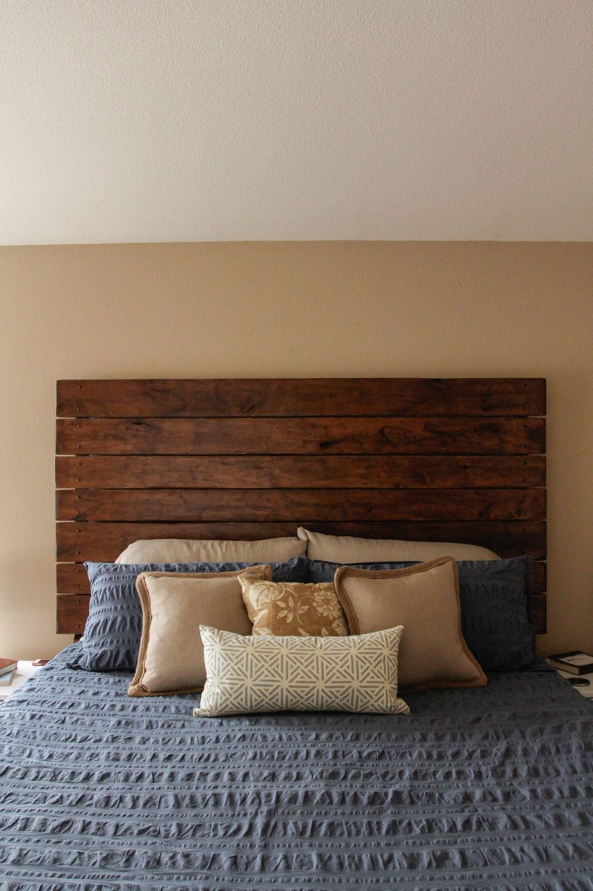 Diy Headboard Wood Planked Headboard Plank Headboard Headboard Designs