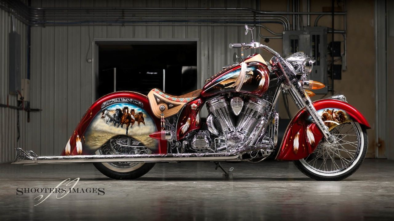 2010 Vintage Indian Chief Custom Leather Work Done By Www