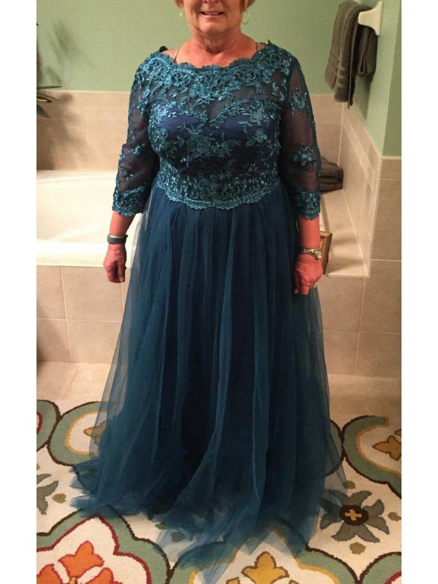 3 4 Length Sleeves Tulle Plus Size Mother Of The Bride Dresses 99605089 Vestidos Vestidos De Cerimonia Vestido Mae Noiva Casamento