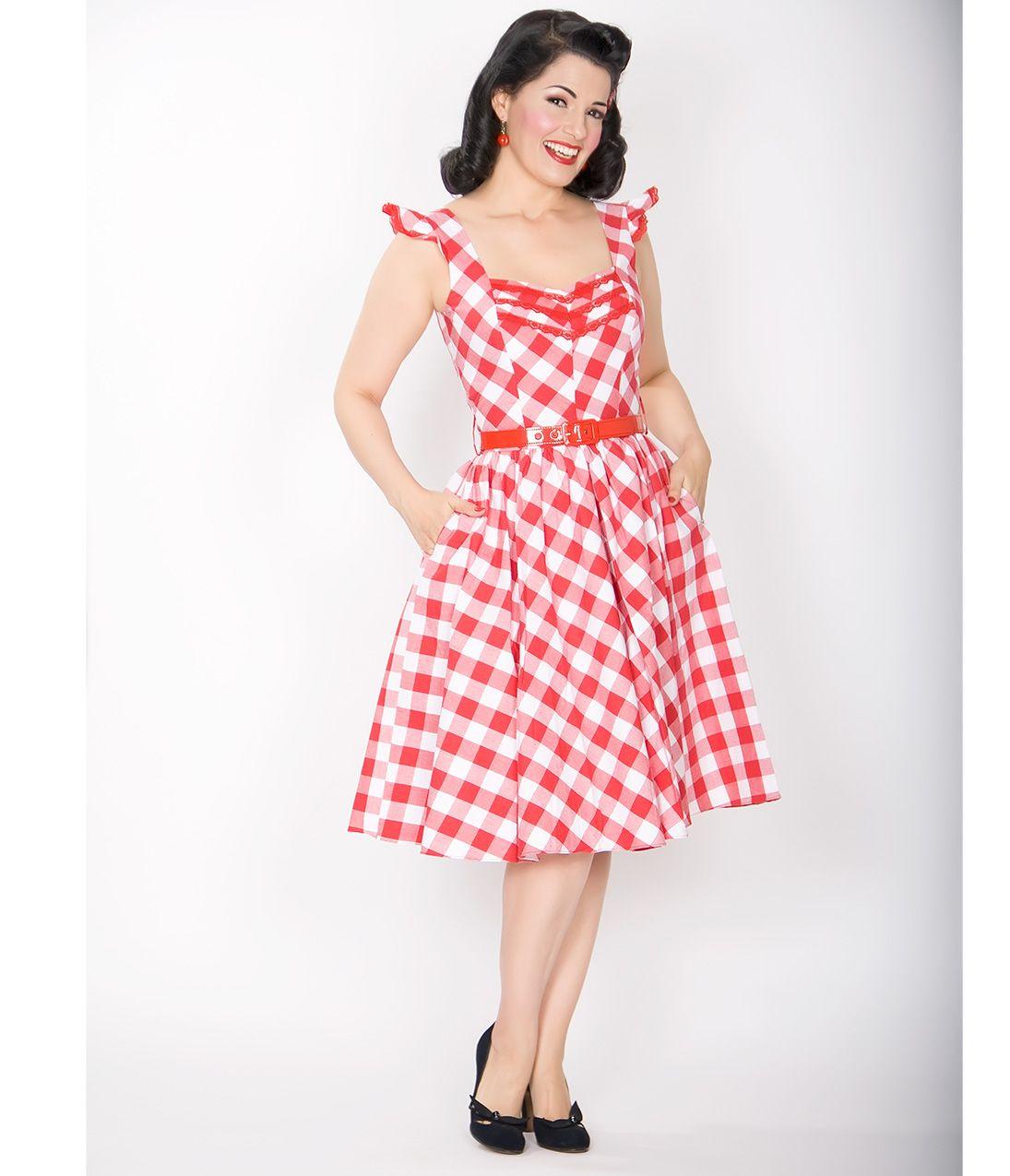 168 Stop Staring! 1930s Style Navy & Ivory Railene Dress | Mid ...