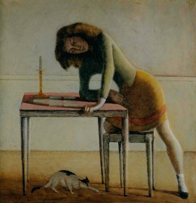 Balthus Balthasar Klossowski de Rola (Artista polaco francés nacido en Suiza, 1908-2001). Patience, 1955.