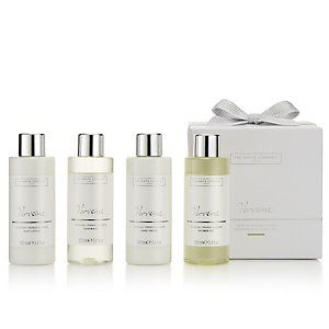 Verveine Miniature Bath & Body Set | The White Company. Ideal for holiday.