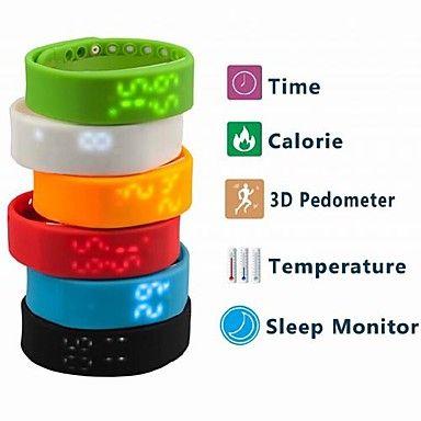 horloge sport multifunctionele usb digitale stappenteller calorieënteller temperatuurmeting – EUR € 28.77