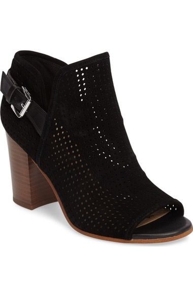 4a25055ac Sam Edelman Easton Perforated Open Toe Bootie (Women) available at   Nordstrom