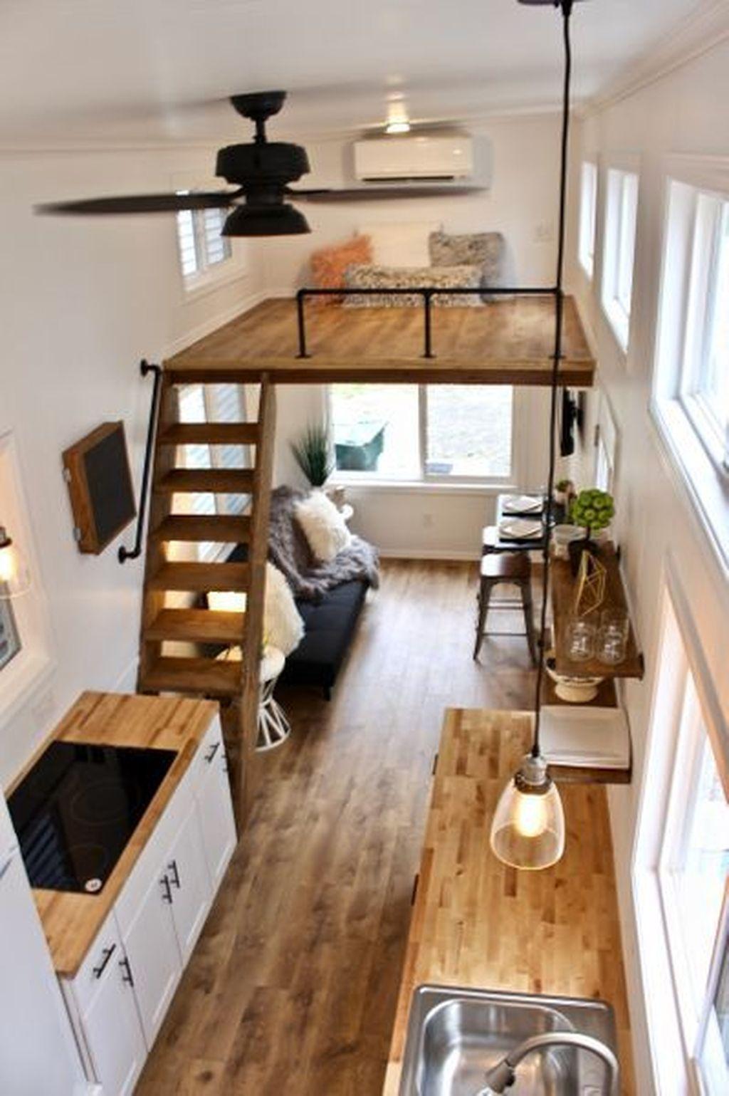 34 Fabulous Tiny House Design Ideas You Never Seen Before Homepiez Tiny House Loft Best Tiny House Tiny House Interior Design
