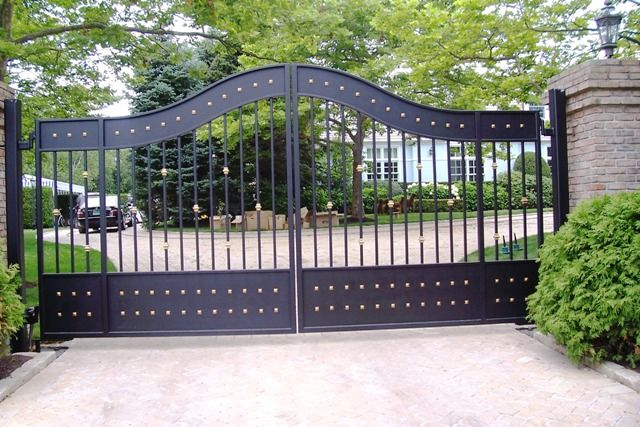 Ornate Automated Iron Entry Gate Wrought Iron Gate Designs