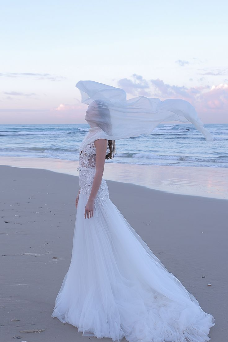 White and blue wedding dresses  Pin by Alon Livne White Wedding Dresses  Gowns on Beach Wedding