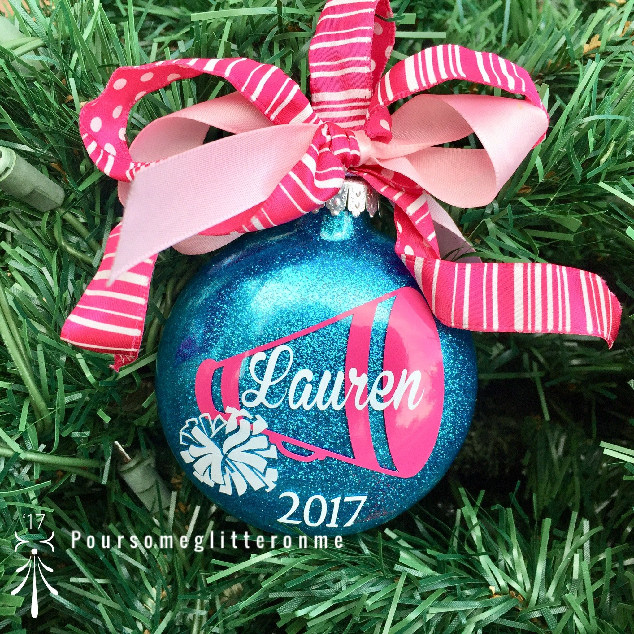 Personalized Cheerleading Ornament Cheer Christmas Etsy Cheer Gifts Christmas Crafts Vinyl Ornaments