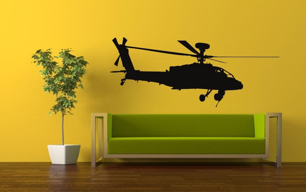 helicopter vinyl wall art decal sticker wall sticker decal 002 by ...