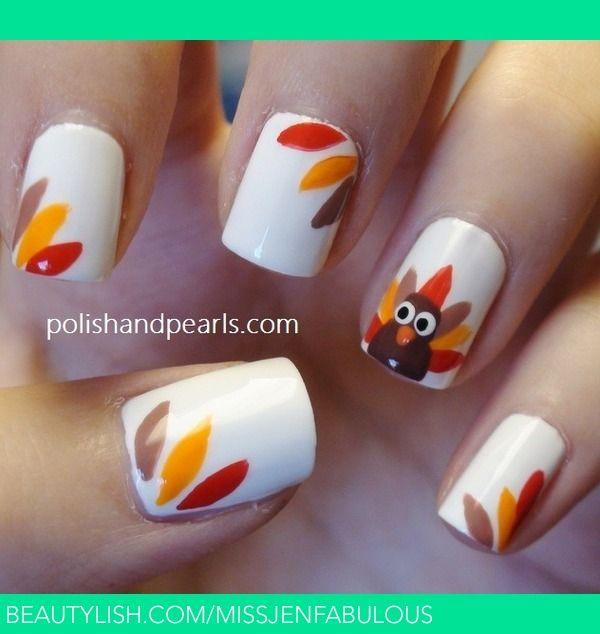 Easy Thanksgiving Turkey Nails! | MissJenFabulous F.\'s ...
