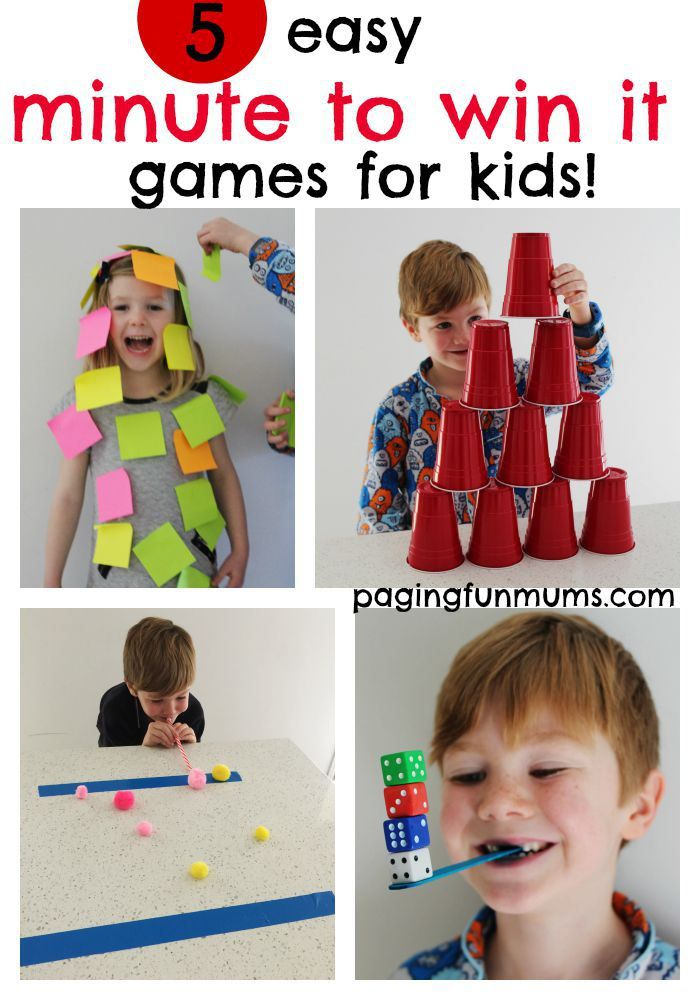 5 easy minute to win it games for kids kids pinterest family