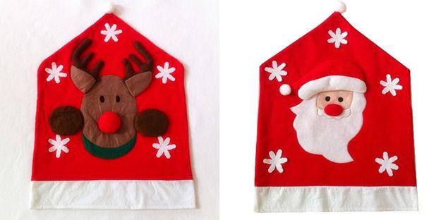 Copri Sedia Per Natale, Renna E Babbo Natale #coprisedia #natale #renna #