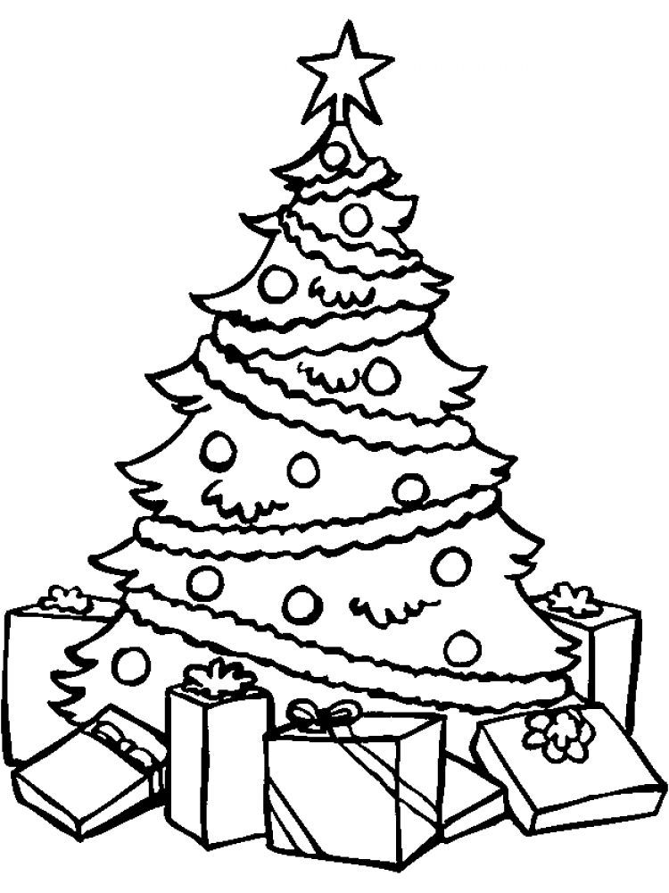 Adult Christmas Tree Pohon Natal Halaman Mewarnai Kertas