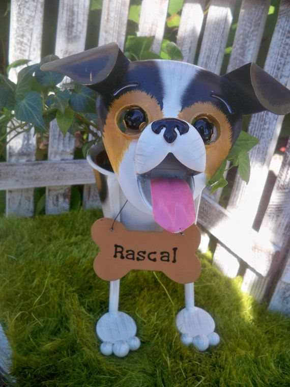 Personalized Jack Russell Dog Garden Planter- English Ivy Plant- Perfect for Pet Lover Gift