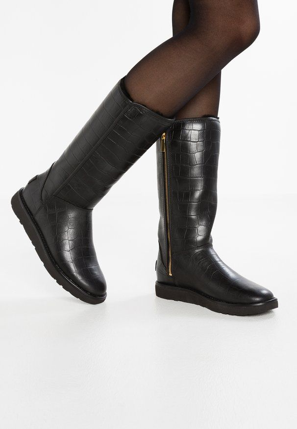 Bottes Classiques UGG – Femme Abree II Croc Black Bottes Classiques, Bottes Femme