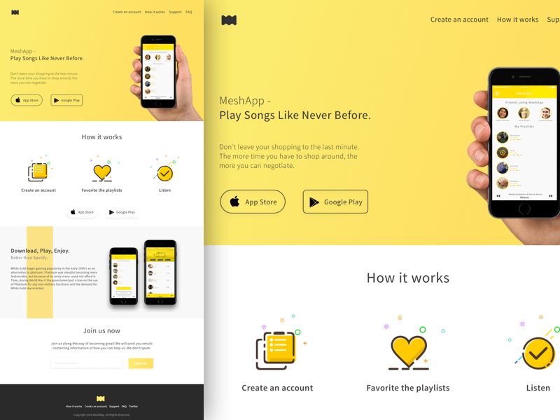 Mobile App Landing Page Ios App Design App Design