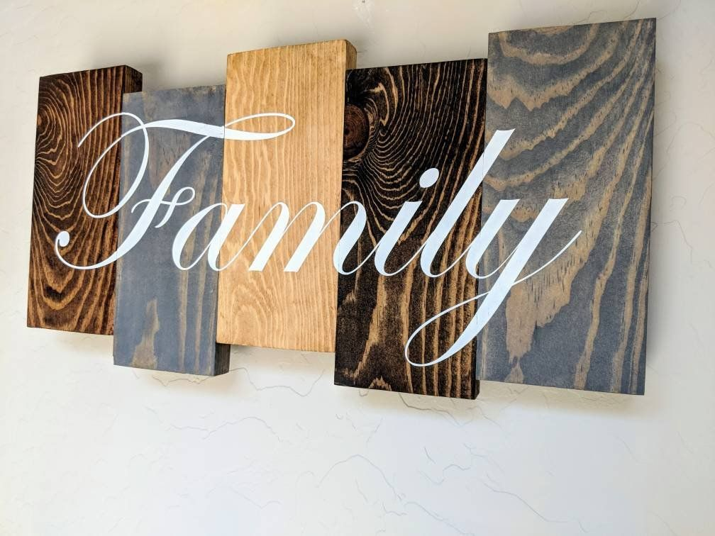 Family Pallet Sign Hand Painted Family Wood Art Wall Decor Pallet Art Wood Wall Art Decor Family Wood Signs Wood Signs Home Decor
