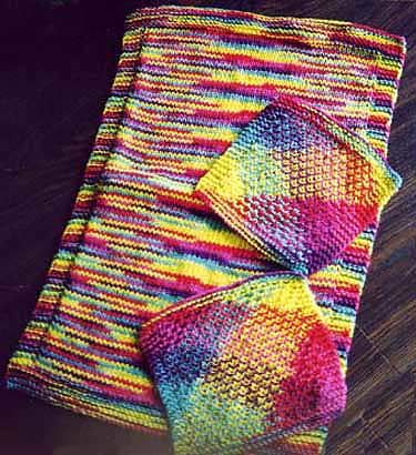 Free Easy Kitchen Towel And Matching Dish Cloth Knitting Pattern