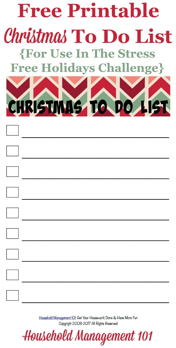 Free Printable Christmas To Do List Christmas To Do List Free Christmas Printables To Do Lists Printable