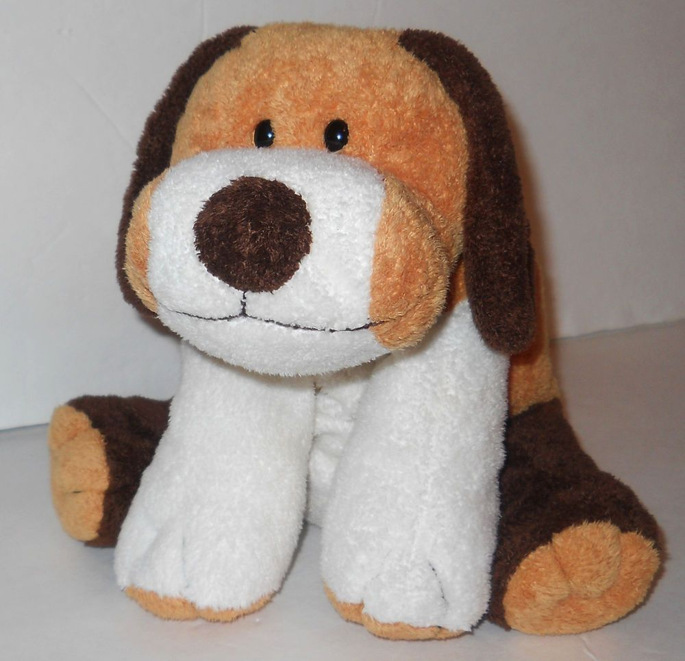 """Whiffer Plush Ty Pluffies Puppy Dog Brown Gold  White 2002 10"""" Good Condition #2 #Ty"""