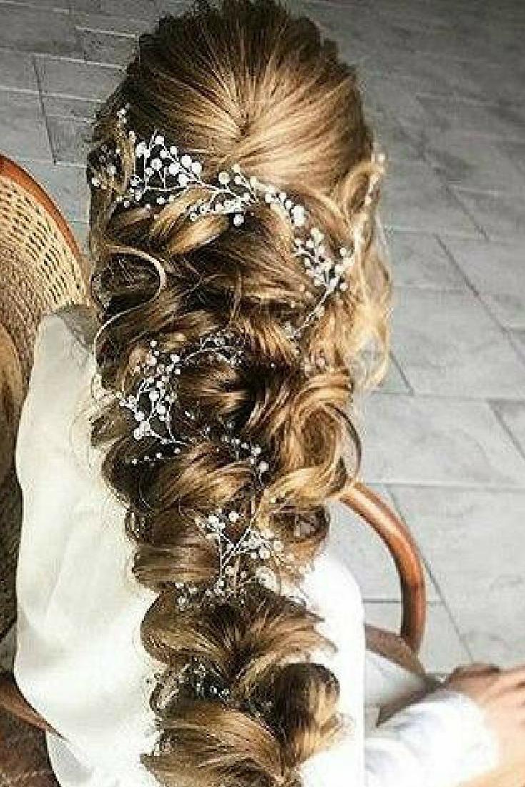 Bridal hair accessories babys breath - Crystal And Pearl Hair Vine Babys Breath Hair Piece Wedding Hair Accessories Wedding