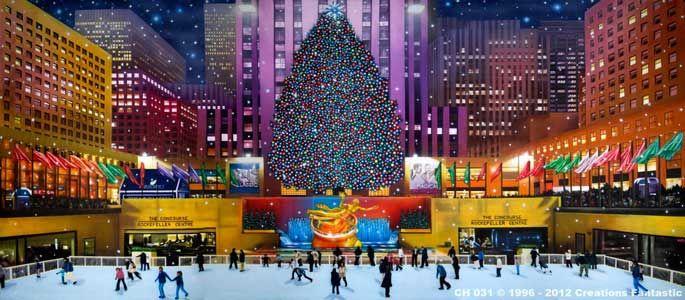 Backdrop Ch 031 Rockefeller Center Christmas Christmas Backdrops Rockefeller Center Christmas Rockefeller Center