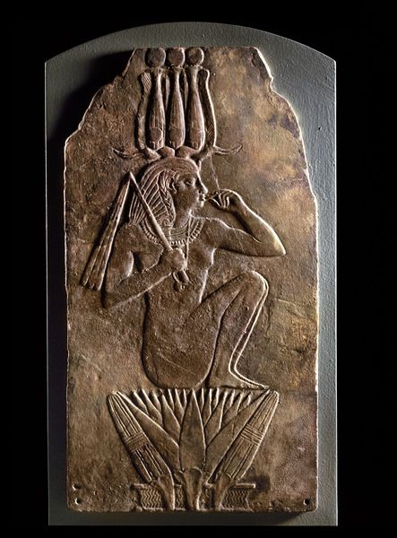 Plaque of iuput ii as harpocrates emerging from lotus flower late plaque of iuput ii as harpocrates emerging from lotus flower late third intermediate period 23rd dynasty ca 837 720 bc now in the national museums of mightylinksfo