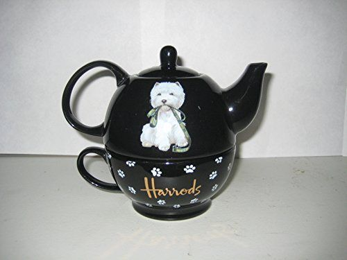 Harrods 12-ounce Teapot and 10-ounce Cup for One, Black - http://teacoffeestore.com/harrods-12-ounce-teapot-and-10-ounce-cup-for-one-black/