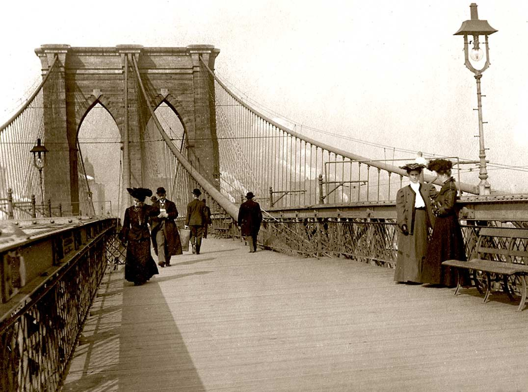 Image result for the brooklyn bridge 1890s