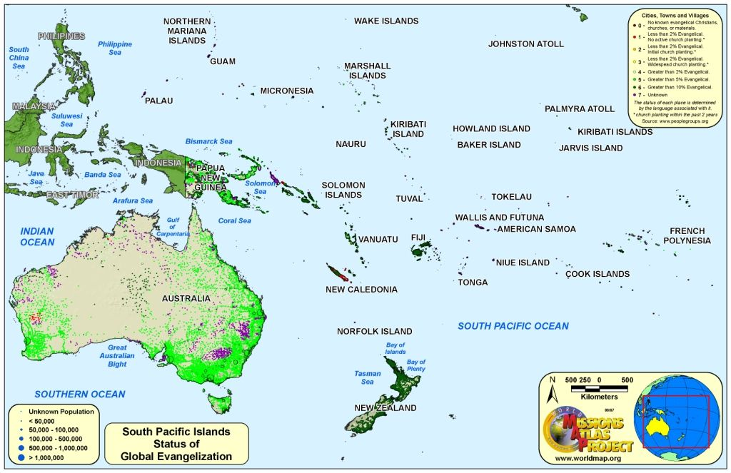 Samoa Islands Map Location