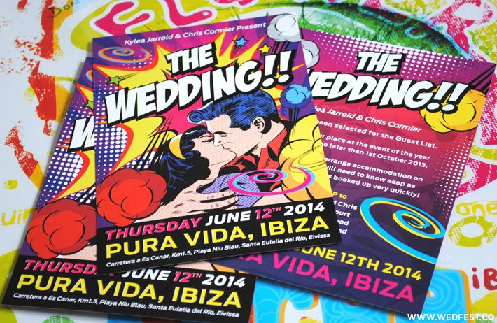 Ibiza Themed Wedding Invitations Themed Wedding Invitations Rock N Roll Wedding Wedding Stationery